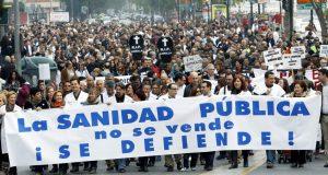 manifestación por una sanidad pública