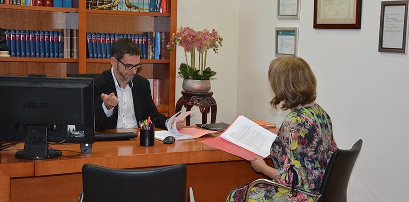 Foto del despacho de Javier Bruna
